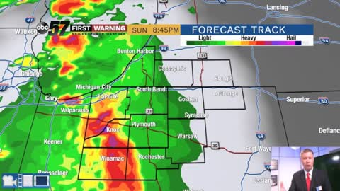 Saturday is dry, showers and storms return Sunday