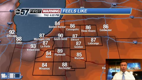 Steamy evening, storms overnight
