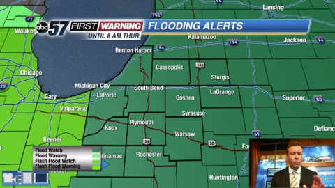 Flood threat continues overnight