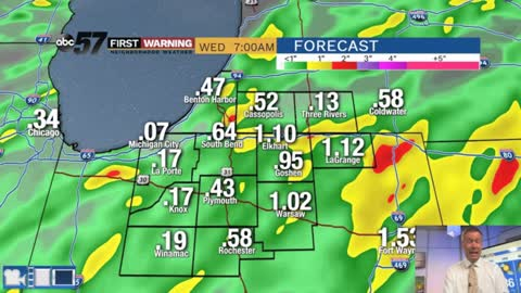 Barry brings heavy rain threat Tuesday, then tropical humidity