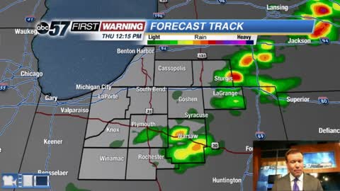 Chance of showers/storms Thursday, milder weekend