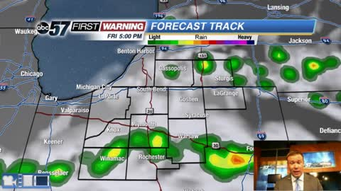 Warm Friday with a few isolated storms