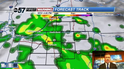 Stormy weather returns Wednesday