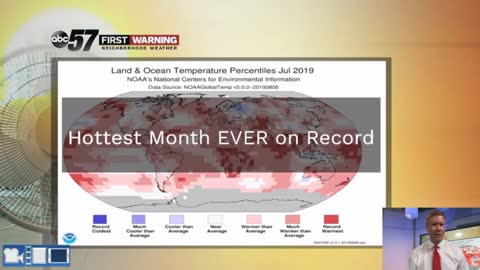 July 2019 was the warmest month in recorded history