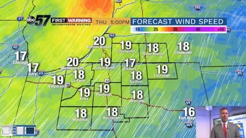 Warm & breezy (again) Thursday, chance of storms late
