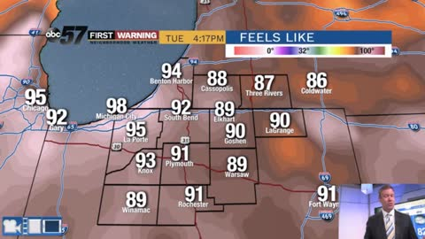 Hot, humid and hazy weather lasts through Thursday