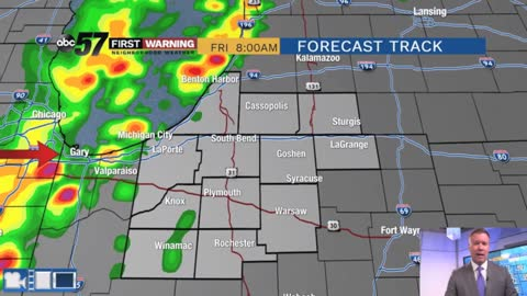 Muggy and stormy pattern lasts through Friday