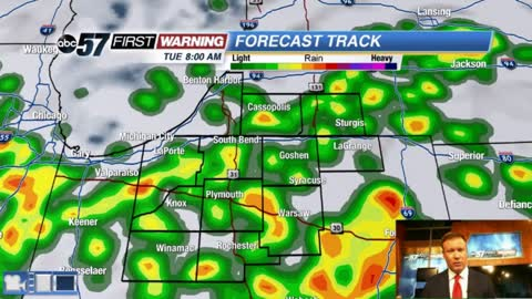Another fall front brings a storm threat Tuesday