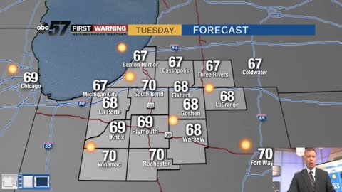 Sunny stretch lasts through midweek