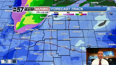 First taste of winter weather Friday