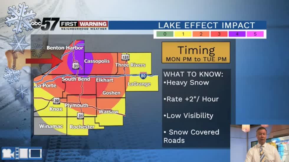 Heavy lake effect snow - ABC 57 News