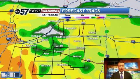 Wet weekend starts with a windy and rainy Saturday