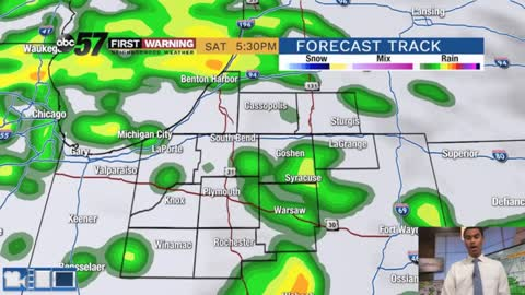 Saturday showers set to move in