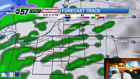Light showers and falling temps today