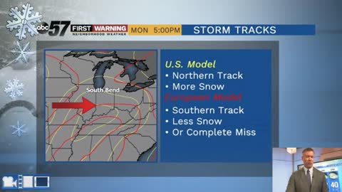 A look at Monday's snow potential