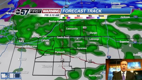 Rain and drizzle tonight could cause a few slick spots