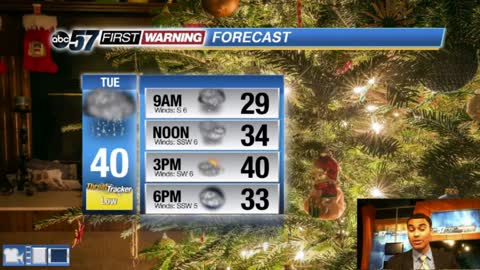 Christmas morning flurries and wintry mix