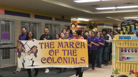 "March of the Colonials celebrates Clay High School students ""doing the right things"""