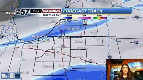 Couple of snow chances before sunny weekend