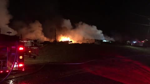 Fire destroys barn, stored crops in Coloma