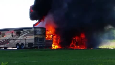 RV catches fire in Elkhart County