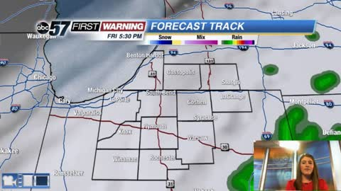 Few showers possible into Saturday
