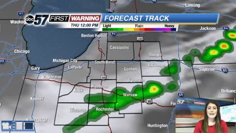 Isolated storm chance, then plenty of sunshine