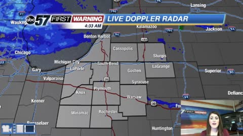 Light snow possible and cold