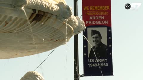 Local businessman honoring veterans with banners along St