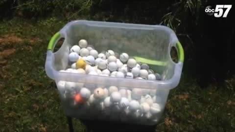 Local woman wants change after finding golf balls in Lake Michigan