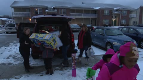 Children from St. Thomas receive Christmas surprise