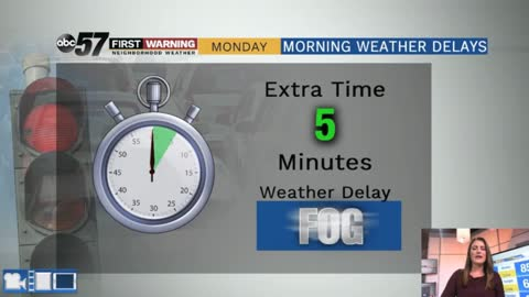 Patchy morning fog today, rain likely tomorrow