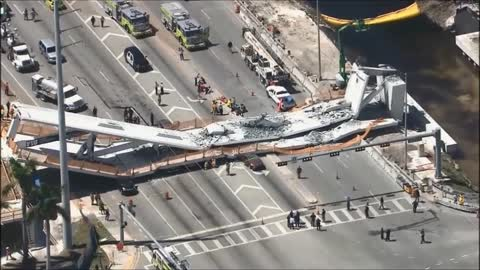 At least four dead in pedestrian bridge collapse at university in Miami, authorities say