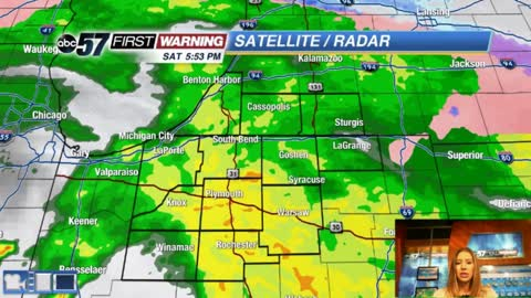 Rain and strong wind continue tonight