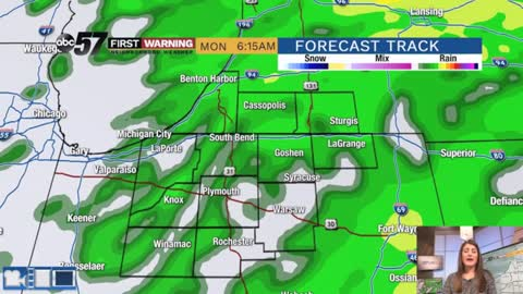 Rain begins late this evening then bitter cold midweek