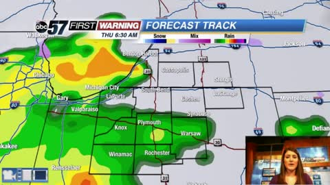 Rainy with thunderstorms possible; BIG temperature drop tonight