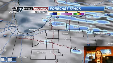 Possible record cold with light snow chances