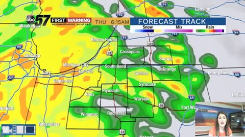 Scattered showers and storms - cooler tomorrow