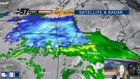 Rain and snow moving out tonight