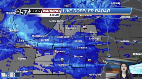 Snowy, cold & windy morning