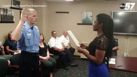 South Bend Fire Department welcomes third generation firefighter