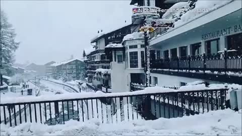 Visitors to Swiss village trapped