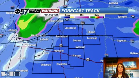 Wintry system moves in tonight