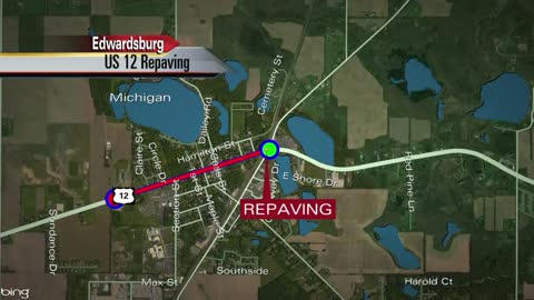US 12 pavement construction begins in Edwardsburg