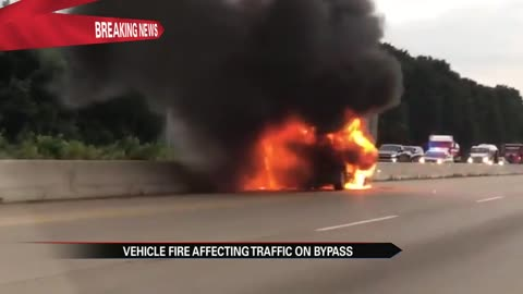 Vehicle fire on U.S. 20 causes traffic disruption
