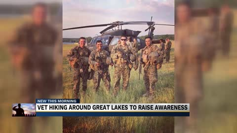 Michigan Marine veteran hiking through Michiana to raise awareness for veteran suicide