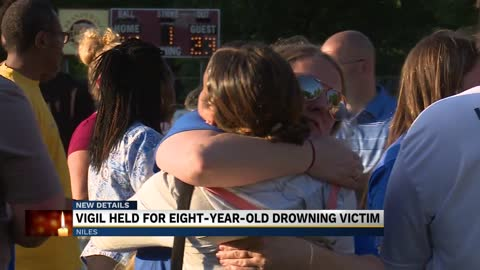 Ballpark vigil held for young drowning victim