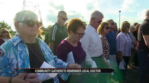 Vigil held in honor of Dr. Todd Graham