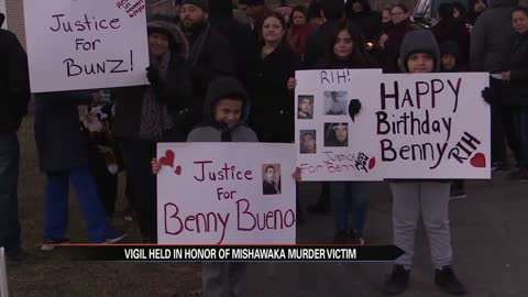 Vigil held in honor of Mishawaka murder victim