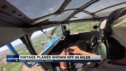 Vintage planes shown off at airport in Niles